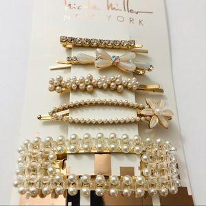 Gorgeous 5 piece hair clip set! Nicole Miller